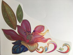 China Gold Luster Ceramic Waterslide Decals , Durable Ceramic Transfer Printing Paper supplier