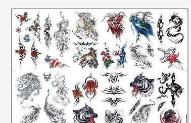 "China 8.5"" X 11"" Temporary Tattoo Decal Paper Water Transfer Type For Body OEM supplier"