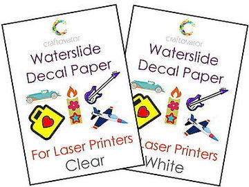 "Fashionable Laser Decal Paper 75 Sheets 8.5"" X 11""  Good Slip For Ceramic Ware"